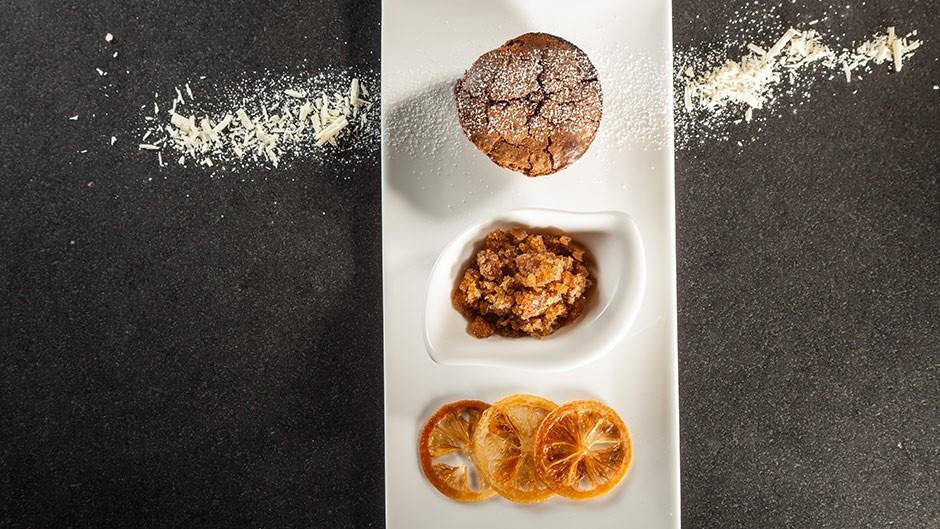 BALLARINI Choco cakes with espresso granita