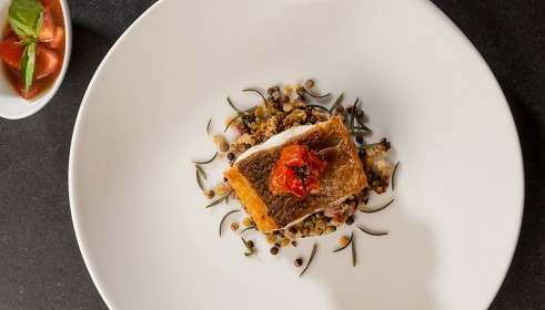 BALLARINI Recipe Wolf bass on colorful lentils