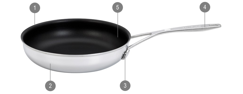 Demeyere Specialties Frying Pans Industry Duraslide Ultra