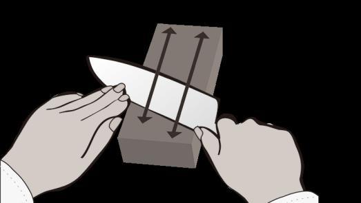 MIYABI Messer Schärfen - Seite wechseln
