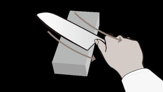 MIYABI Messer Schärfen - Grat entfernen