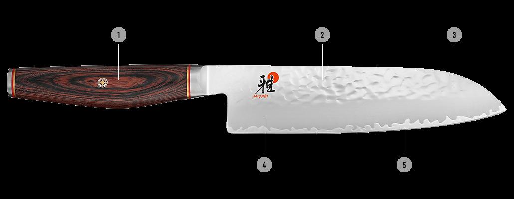 MIYABI Couteaux 6000MCT Détails