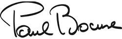Unterschrift von Paul Bocuse