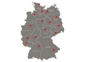 Deutschlandkarte Kochtpfreise