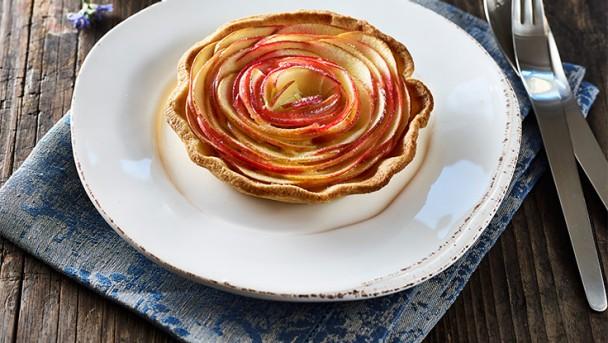 Kleine Apfelrosen-Tartes