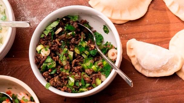 Dumplings gefüllt mit asiatischem Rindfleisch