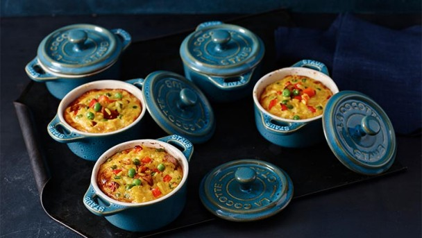 Gemüse-Reis-Frittata mit Chorizo und Safran