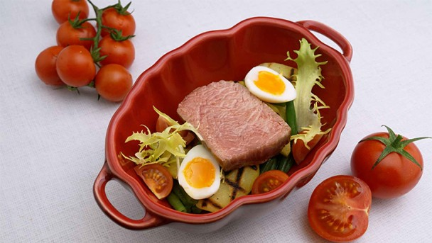 "Lammrücken ""Nicoise"" Bohnen / Kartoffel /Tomate"