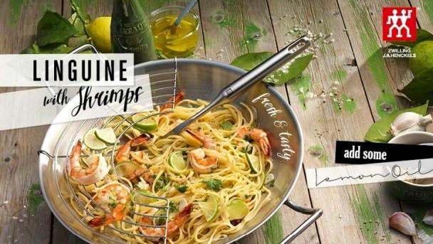 Linguine mit Shrimps