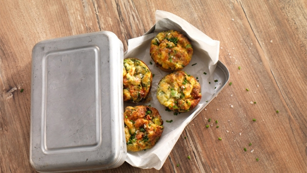 Rührei-Muffins mit Gemüse