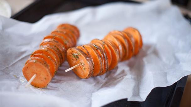 Süßkartoffel-Stackers