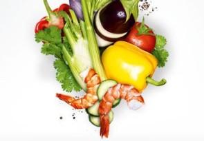 Gemüsetatar mit Garnelen