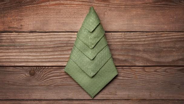 Tannenbaum aus einer Serviette