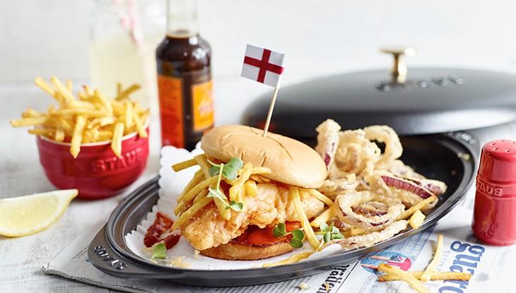 Rezept STAUB Burger Fish & Chips