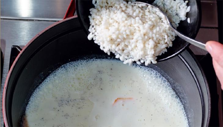 Rezept STAUB Milchreiskuchen