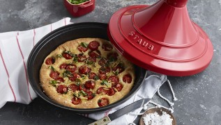 STAUB Rezept Tomaten-Foccacia