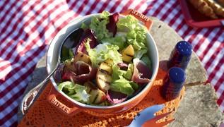 STAUB Rezept Salat mit gegrillten Pfirsichen