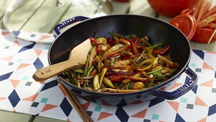 Rezept STAUB Buntes Wok Gemüse