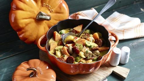 Herbstgemüse in der STAUB Kürbis-Cocotte