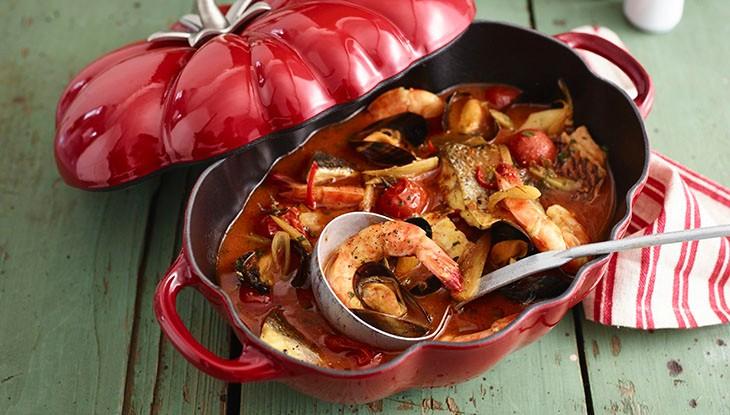 Fischeintopf in der STAUB Tomaten-Cocotte