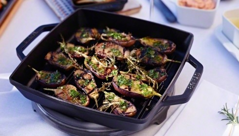 STAUB recipe Grilled eggplants