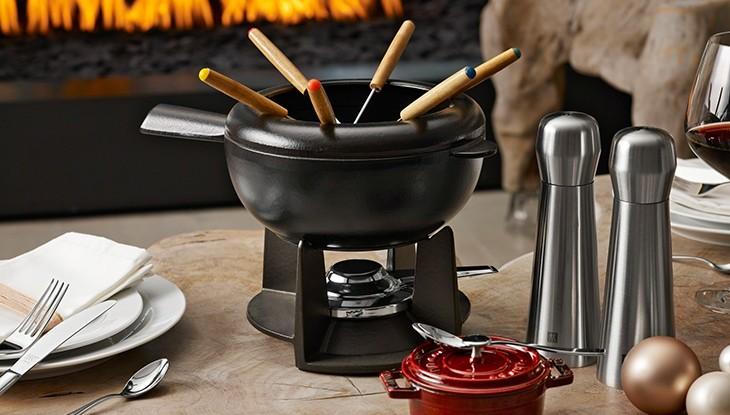 STAUB - juego de fondue de hierro colado