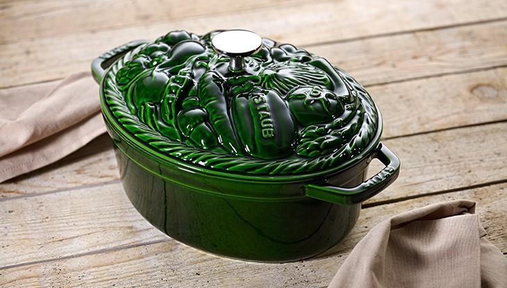 grüne Gemüsecocotte - Serie Spezielle Cocottes