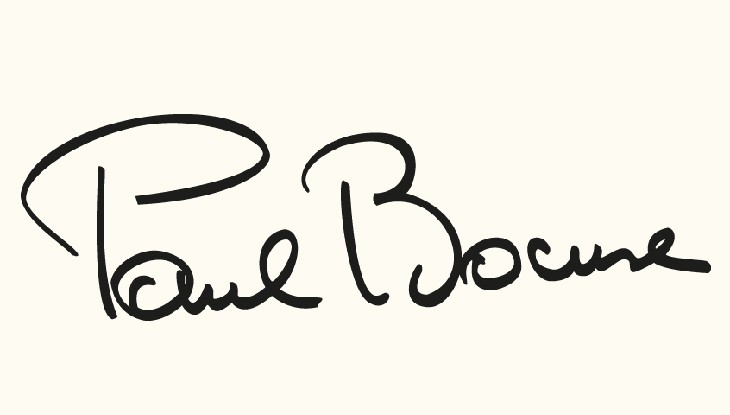 Signature of Paul Bocuse