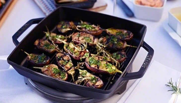 receta de cocina staub berenjenas asadas