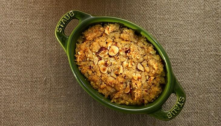 receta de cocina staub crumble de manzana