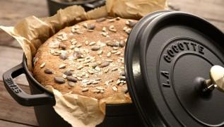 receta de cocina staub pan integral