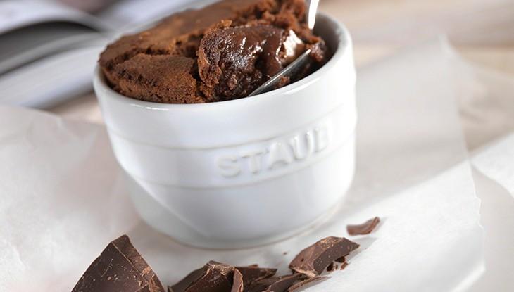 receta de cocina staub pastel de chocolate individual