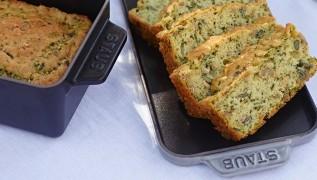 receta de cocina staub pastel de pan integral con albahaca