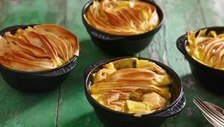 receta de cocina staub pastel de pescado con puerro