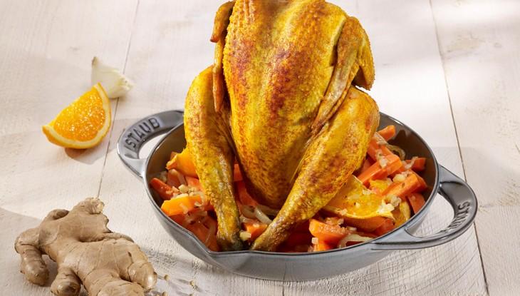 receta de cocina staub pollo asado