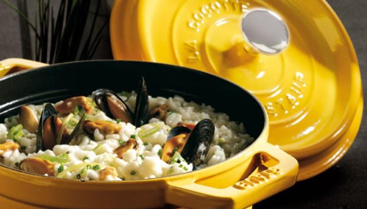 STAUB Risotto recipe mussel lemon