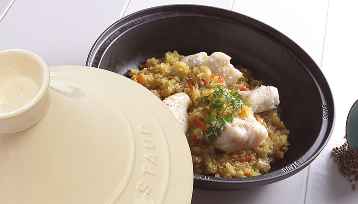 receta de cocina staub tajine de pescado