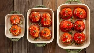 STAUB Recipe Stuffed beefsteak tomatoes