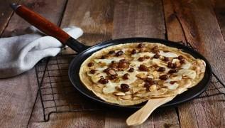 receta de crepe de manzanas caramelizadas