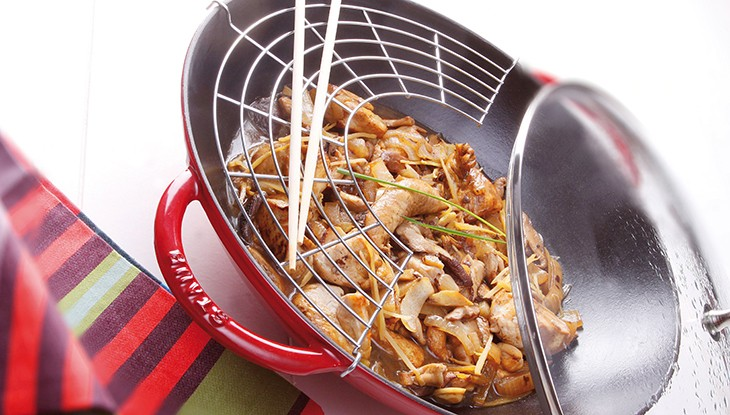 recetas de cocina staub dados de pavo en salsa de jengibre
