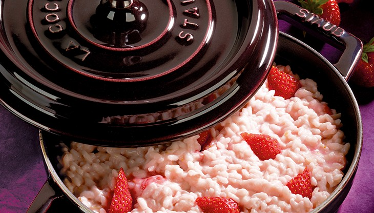 STAUB recipe strawberries Risotto