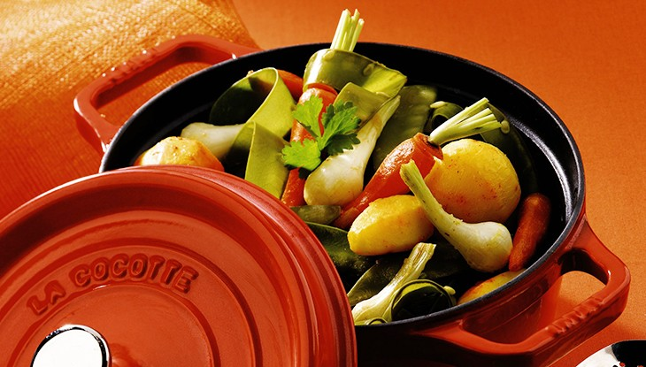 STAUB recipe early vegetables