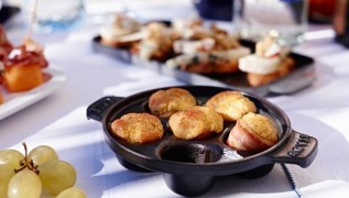 STAUB recipe mini herb cheese muffins