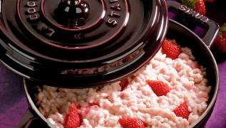 STAUB Recette - Risotto aux fraises