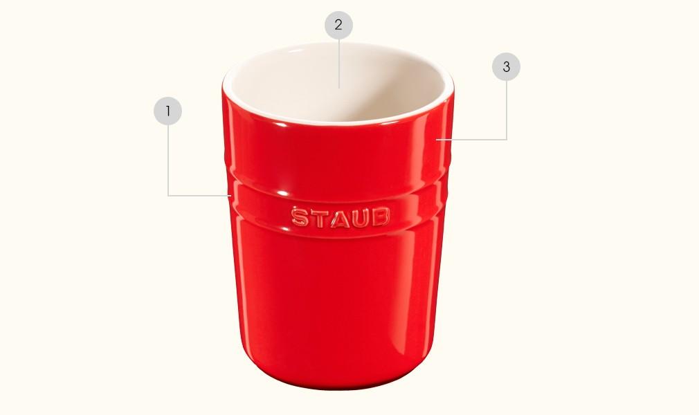 STAUB - Céramique - Pot à ustensiles