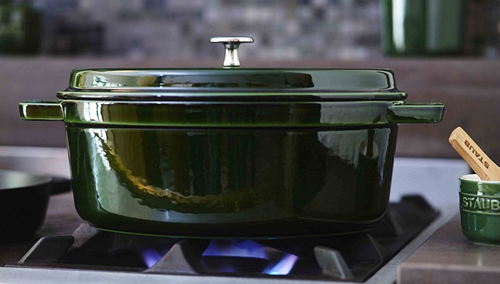 Cocotte on gas cooker