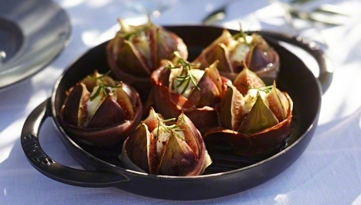 STAUB recipe Grilled figs