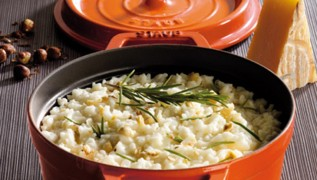 STAUB recipe Risotto cheese