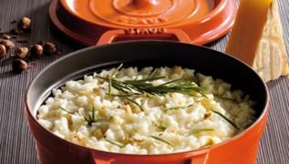 STAUB recipe Risotto cheese