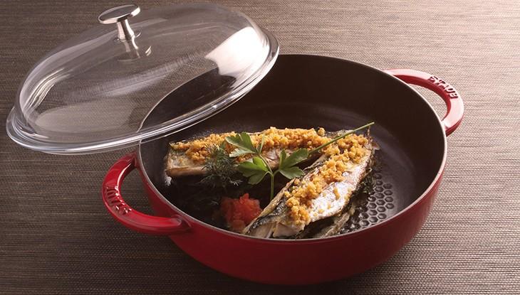 STAUB recipe Markelenfilet spinach